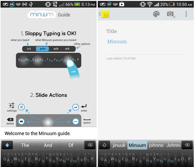 clavier pour Android Minuum 1