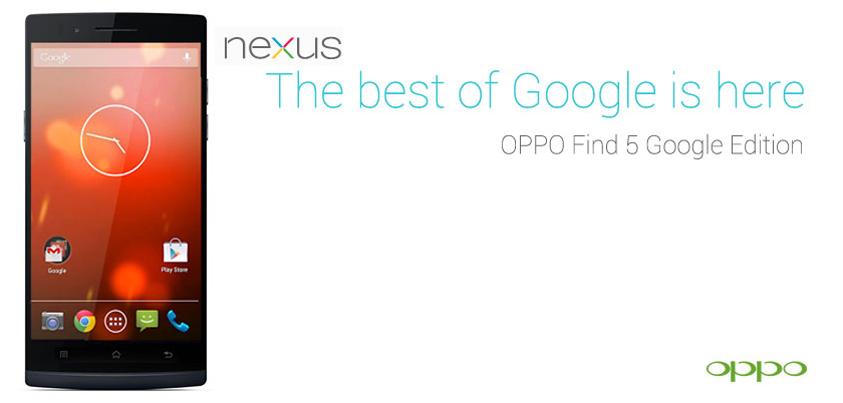 Oppo Find 5 Google Edition rumeurs