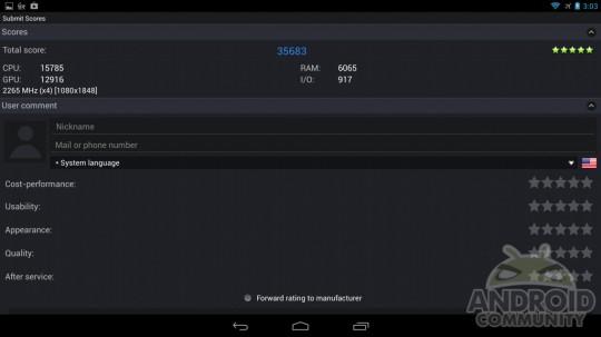 Test Benchmark Snapdragon S800 19061