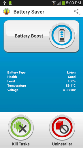 Application Android Battery Saver 2