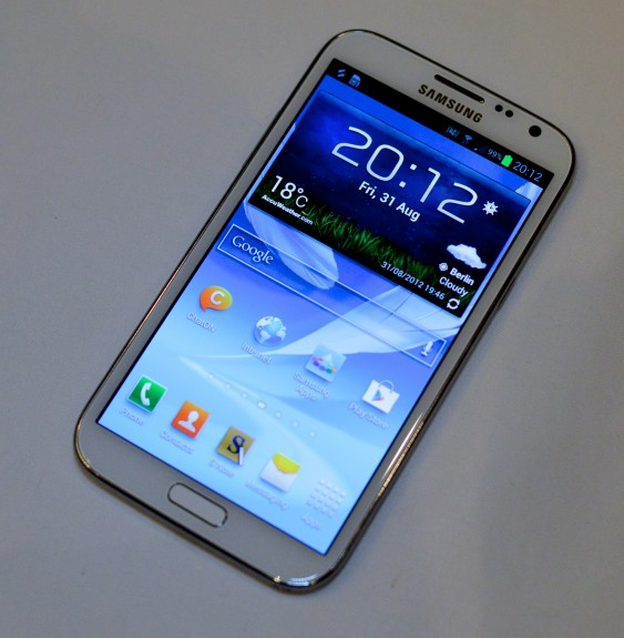 Galaxy Note 2 sous forme de galaxy note 3
