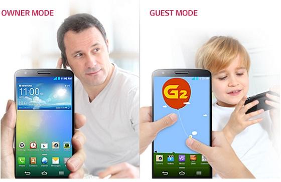 LG G2 mode invité 1308