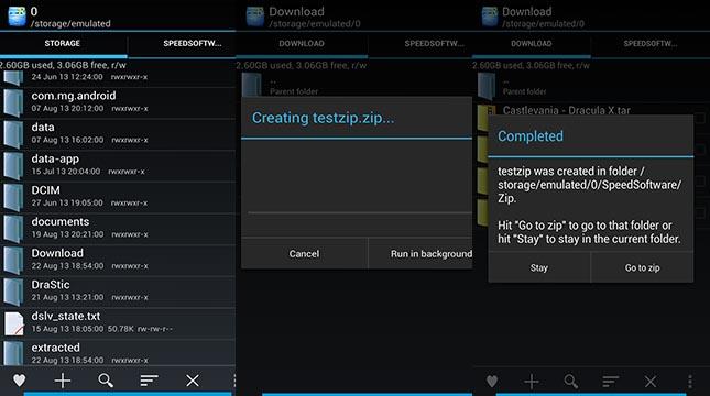 application zip rar android 280808