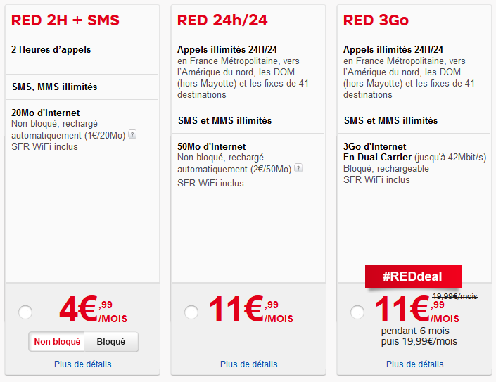 forfait mobile red sfr