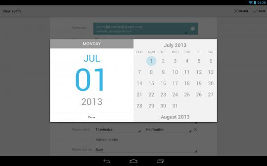 google calendar 0108