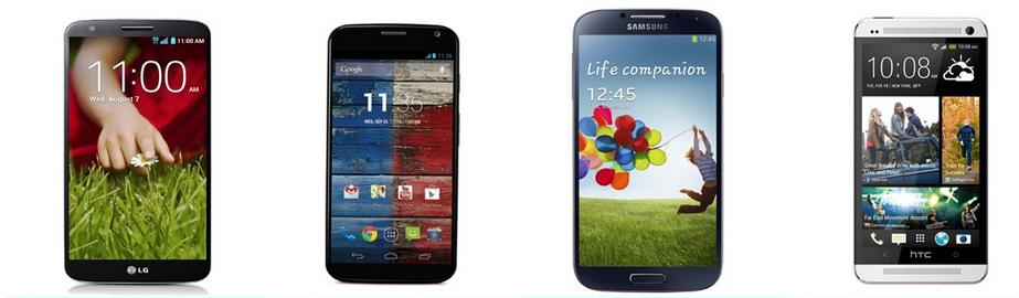 lg g2 vs Moto x vs galaxy s4 vs htc one 080800