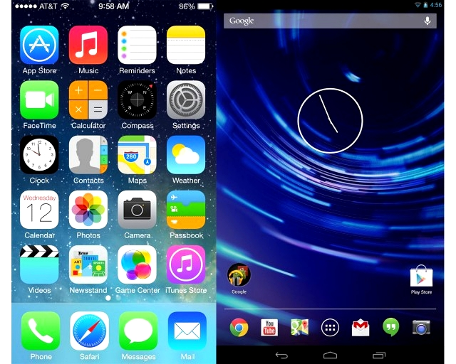 iOS 7 vs android 4.3 190906
