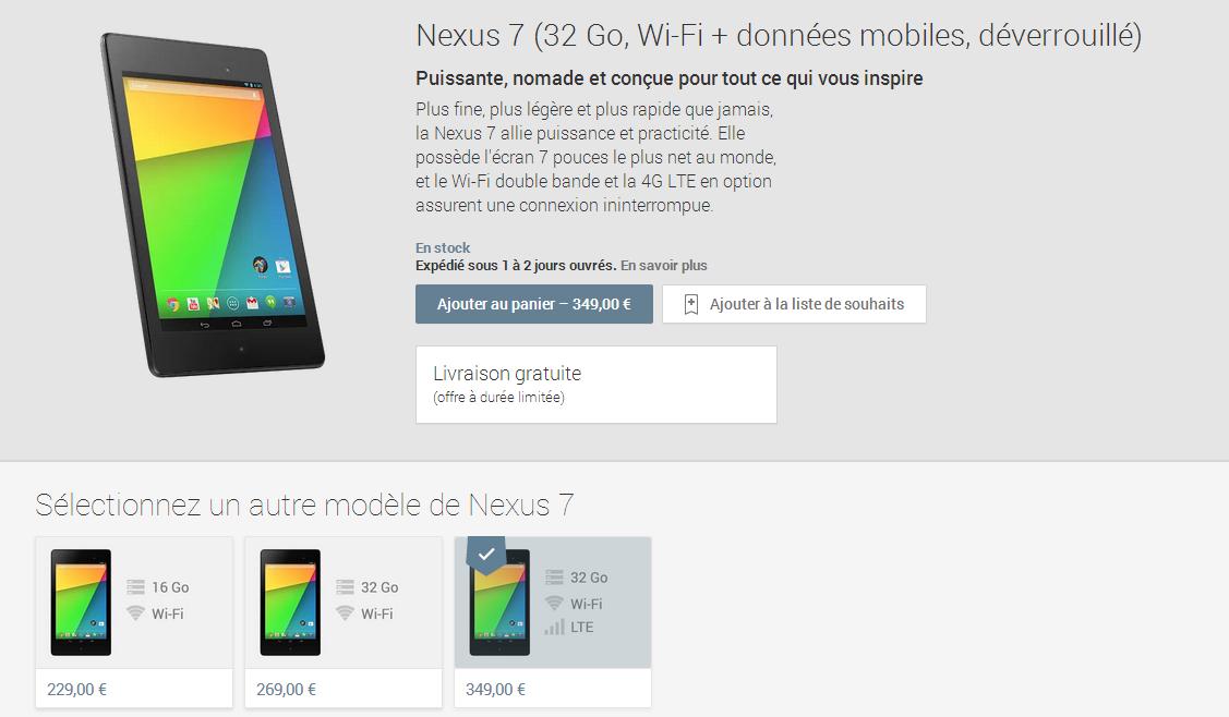 nexus 7 4G 1809