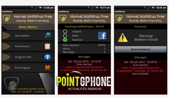 Hornet AntiVirus Free pour Android