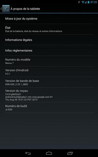 android 4.3.1 nexus 7 2 0410