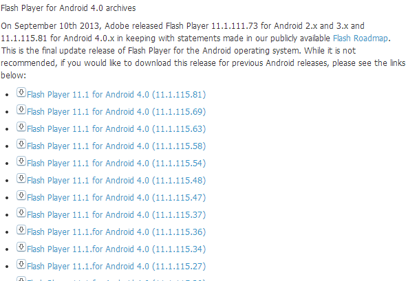flash pour android 151002