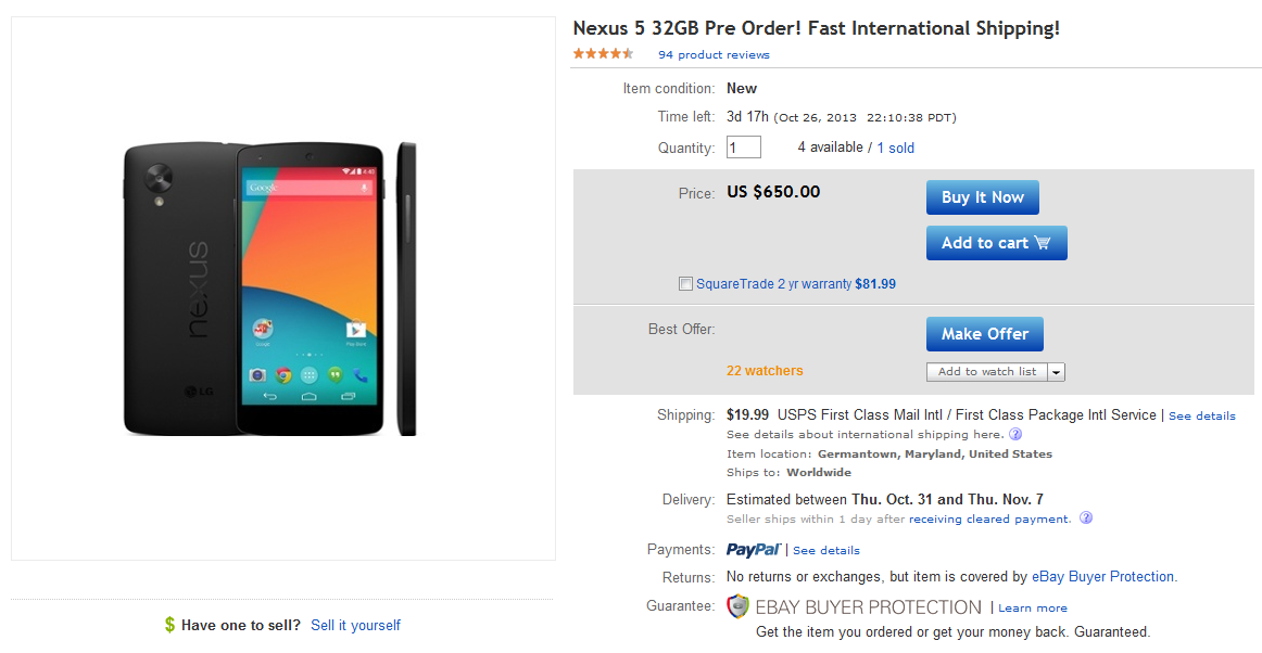 nexus 5 sur ebay 23