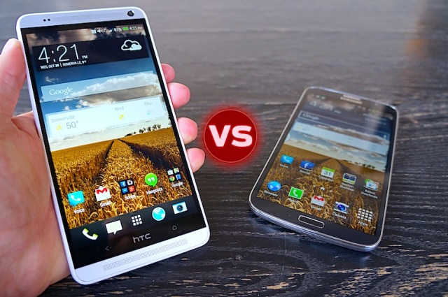 HTC One Max vs galaxy mega 6.3 301149