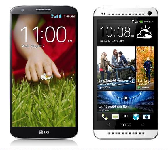 LG G2 vs HTC One 04251