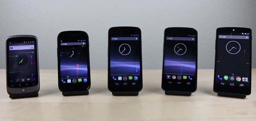 Nexus One vs Nexus S vs Galaxy Nexus vs Nexus 4 vs Nexus 5 071101