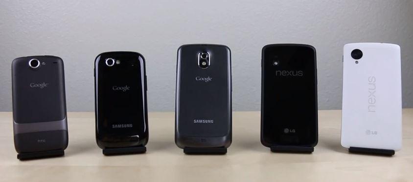 Nexus One vs Nexus S vs Galaxy Nexus vs Nexus  4  vs Nexus 5 071102