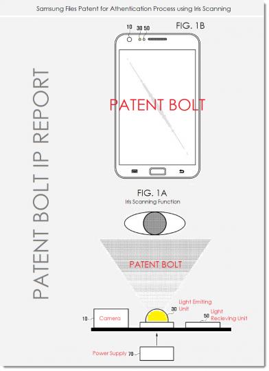 brevet samsung galaxy S5 lecteur retinien 2211