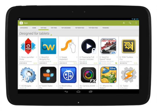 play store pour tablette 2211