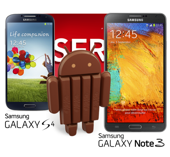 Android 4.4 sur galaxy Note 3 et galaxy s4