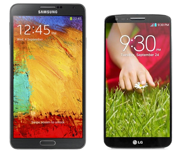 Galaxy Note 3 vs LG G2 1012013