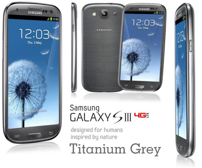 Galaxy S3 4G gris titanium