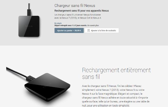 chargeur sans fil nexus 12013