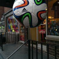 image ballon de foot prise avec le HTC One Max