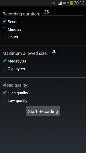 Control Video Recording