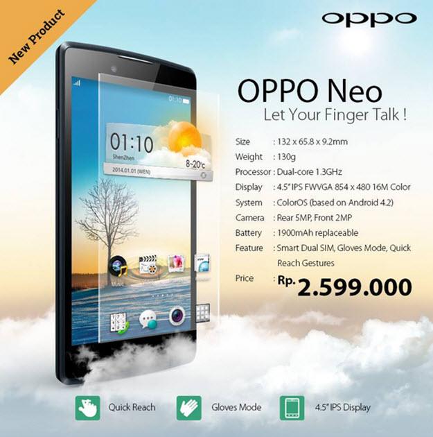 Oppo Neo 1601