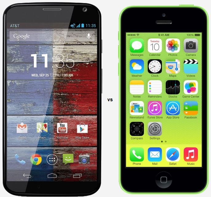 iPhone 5C vs Moto X 270118