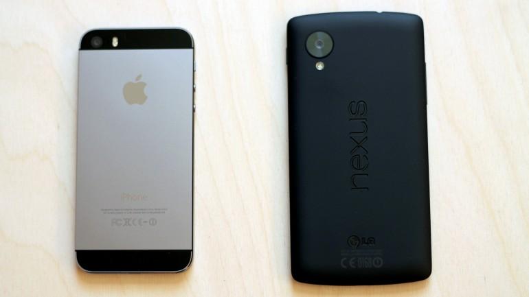 nexus 5 vs iphone 5s 240107