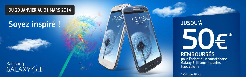 ODR Samsung Galaxy S3 janvier 2014