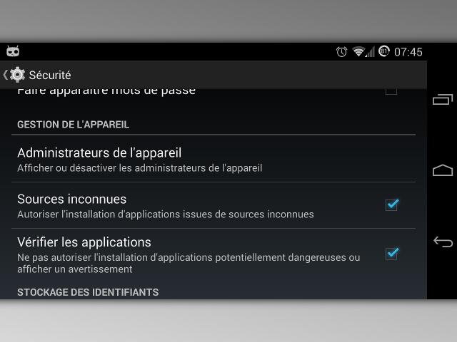 La vérification des applications Android