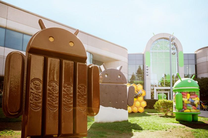 Photo : fragmentation des différentes versions d'Android