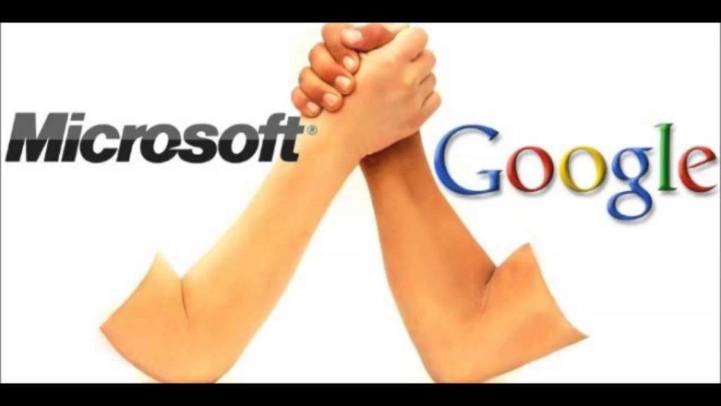 Photo : Microsoft vs Google