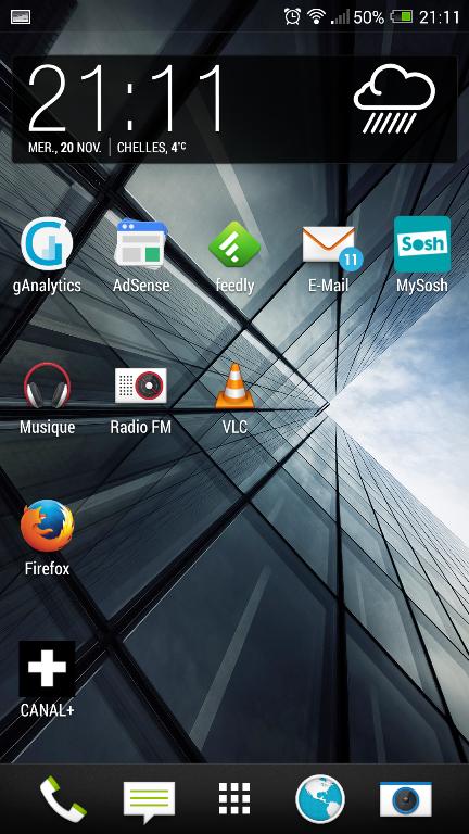 Test HTC One max ecran daccueil 01