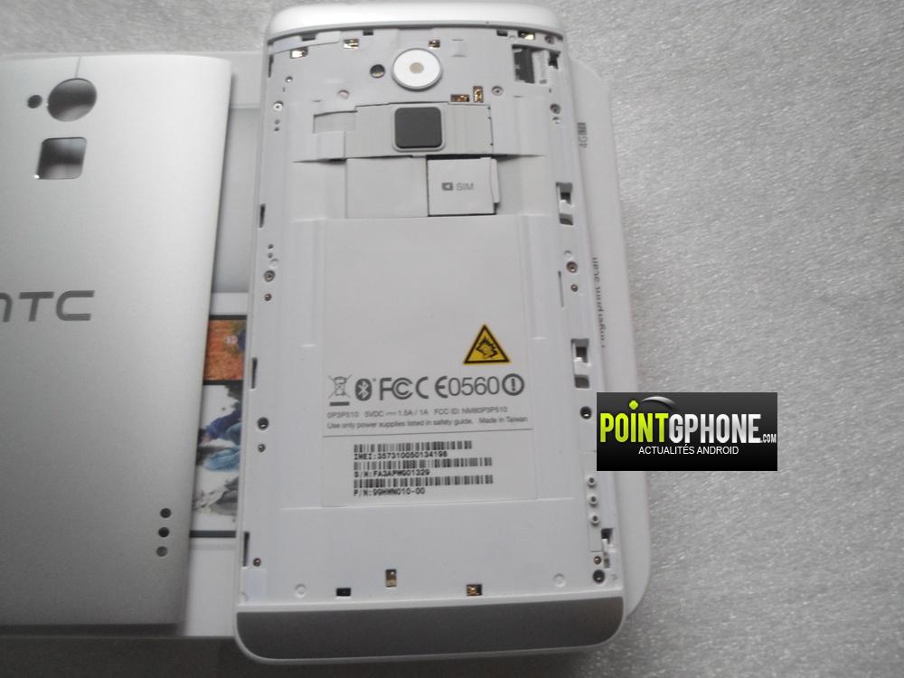 Test dos HTC One max 2 avec coque enlevée