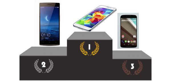 Top 3 des smartphones