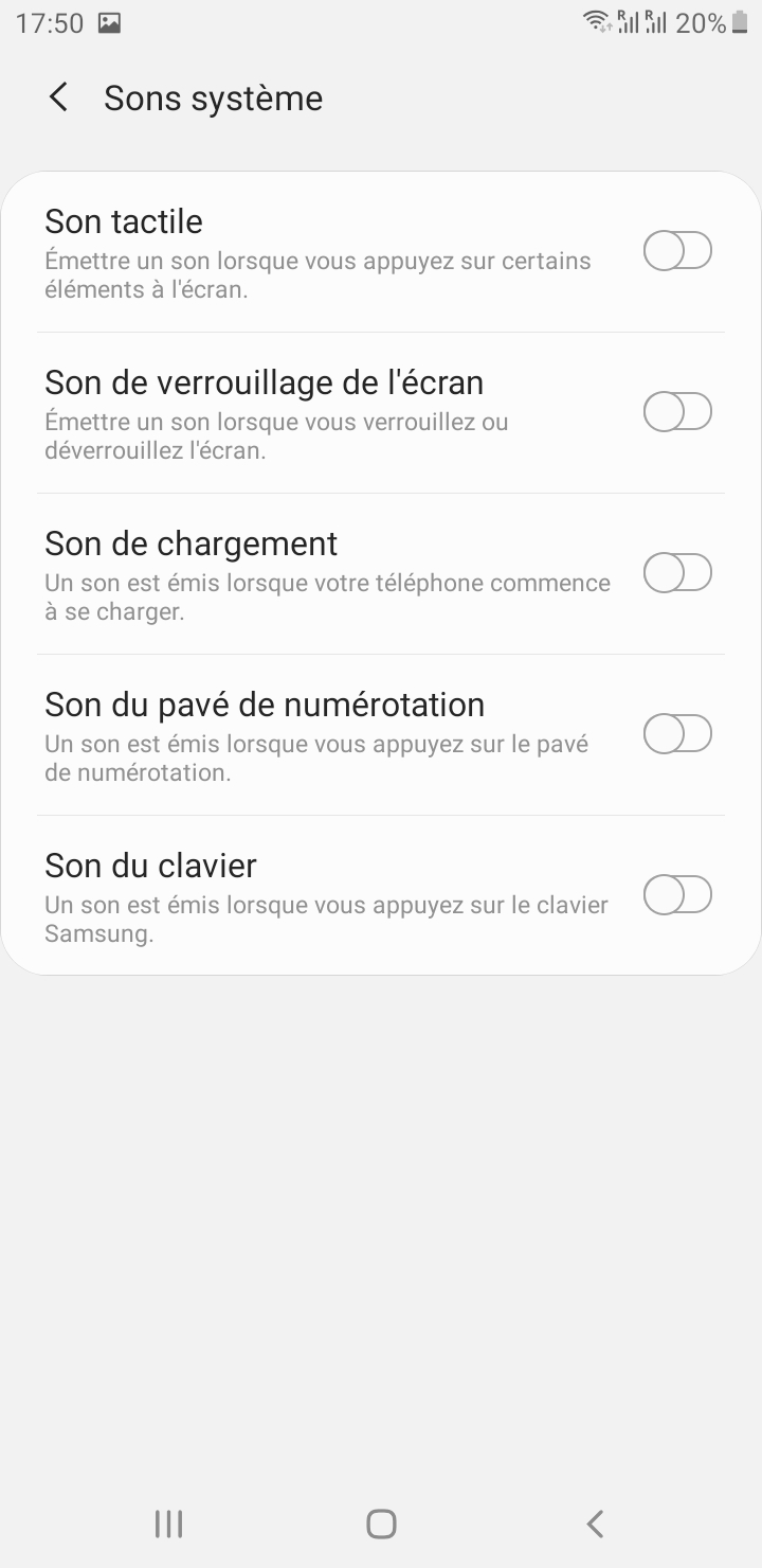 tuto android pour couper les sons systeme