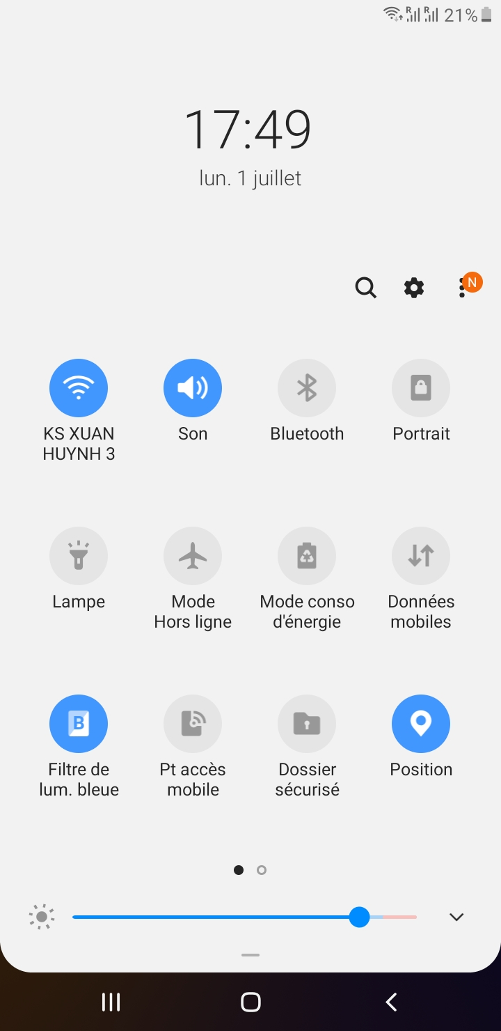 couper volume android
