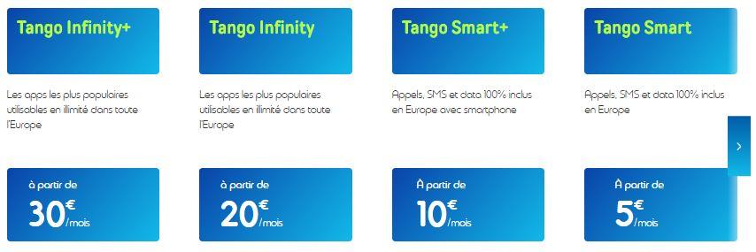 Tango abonnement mobile