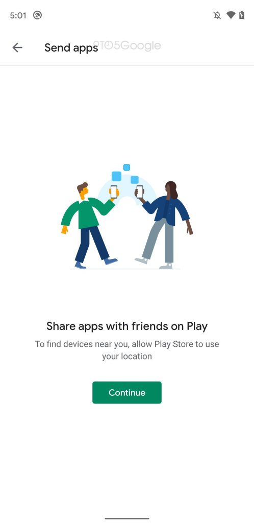 google play store partage application