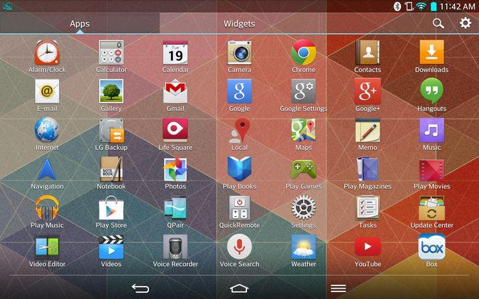 test lg g pad 5250 application